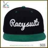 Custom Suede Brim 3D Bordado Sport Snapback Hat