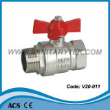 Válvula de bola de latón forjado (V20-011)
