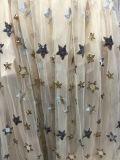 Shinny ткань печати звезды шифоновая для платья девушок