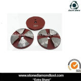 3 Zoll Terrco konkreter reibender Auflage-Metallbonddiamant