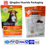 Изготовленный на заказ мешок упаковки еды собаки плоского дна раговорного жанра с застежкой -молнией