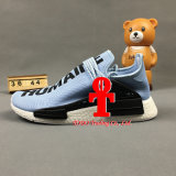 A raça humana Nmd X de Pharrell Williams HU fora do corredor branco de Nmds dos originais das sapatas Running do Mens de Primeknit Camo do tipo ostenta sapatas