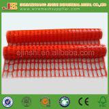 O zoneamento de rede de segurança de plástico laranja