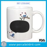 Amore dell'uccello di canto di bellezza tazza di ceramica della scheda di gesso