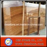 Losa de mármol granosa de madera del oro natural decorativo para la venta