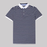 100% coton Mens Chaep Strip Polo à manches courtes Tee-shirts pour la vente