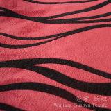 Flocage du polyester extrêmement mou 100% de tissu de velours avec le support