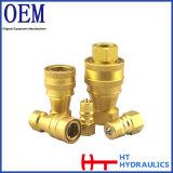 Couplage rapide hydraulique d'embout de durites d'amorçage de Bsp du laiton 1/4