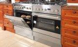 Gabinete de cozinha luxuoso da madeira contínua da mobília da cozinha (zq-014)