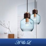 Lâmpada pingente de vidro de design moderno para sala de estar