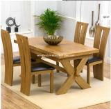La ampliación de la tabla de roble sólido de color marrón con 4 sillas de Arizona
