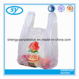 Sac à provisions en plastique de T-shirt de HDPE et de LDPE pour le supermarché