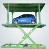 油圧二重駐車のデッキ4の郵便車の上昇