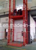 Trilho de guia armazém ferroviário hidráulico do elevador com elevação de marcação