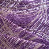 폴리에스테와 아크릴 털실에 의하여 염색되는 자카드 직물 셔닐 실 직물