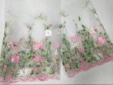 Tessuto del merletto del ricamo del fiore per i vestiti della ragazza