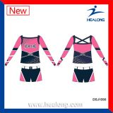 Les filles de sublimation Healong Cheap Cusotm Cheerleading uniformes fixe