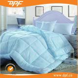 Quilt azul do Duvet que enche-se no Comforter do ganso para baixo (DPF1078)