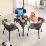 Мебель в саду большой таблицы и бар стульями для отдыха обставлены плетеной плетеной таблица (Z306)