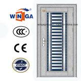 Südafrika-Edelstahl-Sicherheits-Metallglastür (W-GH-24)