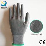 les gants de nitriles de la mousse 13gague, gants de travail, gants de sûreté, gants en caoutchouc, protègent des gants