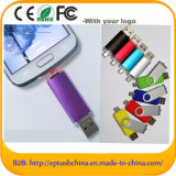 Plastic Swivel Flash Drive USB móvel Pen Drive USB