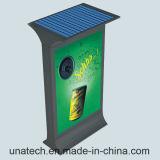 Publicidad del rectángulo ligero de Mupi del LED de la calle del camino del panel solar del papel al aire libre de aluminio vertical de la batería