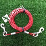 Cuerda de alambre Ate el cable para el animal doméstico