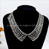 Moda primavera exagerado Collar Collar chapado en aleación de zinc, con plata Diamante CZ diamantes para mujer