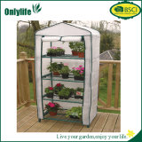 Invernadero plegable del plástico del jardín del marco de la PC de Onlylife 4-Tier
