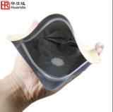 Papel de Brown Kraft con la bolsa/el bolso de pie de la cremallera de la laminación del papel de aluminio