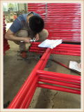 赤い絵画梯子フレームシステム足場