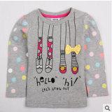 T-Shirt à manches longues, commerce de gros T-shirt pour enfants filles coton imprimé T-Shirt à manches longues