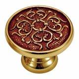 Perno della mobilia di stile antico e maniglia d'ottone di tiro