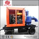 더러운 물 청소를 위한 트레일러를 가진 디젤 엔진 수도 펌프