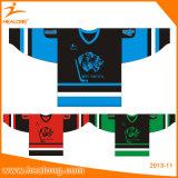高品質のスポーツ・ウェアの染料によって昇華させる印刷のアイスホッケージャージー