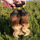 Naturales sin procesar Virgen brasileño Remy Ombre cabello humano.