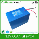 12V 60ah LiFePO4 Battery para Solar System
