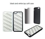 Caisse de téléphone de sublimation de blanc de PC de TPU 2D pour le cas de l'iPhone 6s/7 TPU