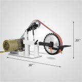 1.5 2 quilowatts da velocidade variável do cavalo-força máquina de lixar do moedor da correia de 2 x 82 polegadas