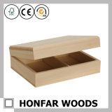 装飾のための良質の未完成の未加工木ギフト用の箱包装ボックス