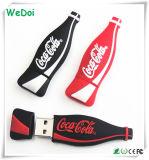 Ручка USB бутылки кокаы-кол шаржа с гарантированностью 1 года (WY-PV63)
