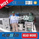 Машина льда хлопь Conrete охлаждая с средством доставки выдувания воздухом