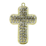 Diamond Cross Necklace USB Memory Stick Crystal USB Flash Drive