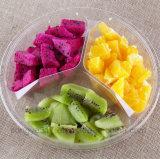 PVC明確で使い捨て可能な3つの容器の新鮮な果物の荷箱
