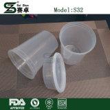 Feinkostgeschäft-Nahrungsmittelbehälter-runde Filterglocke Plastik 32 Unze. (mit Kappen)