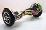 """Projeto novo! Duas rodas que fujem do auto musical elétrico através dos campos de Bluetooth do skate de Hoverboard do cavalo o """"trotinette"""" de equilíbrio"""