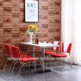 (빨간 SP-CT846) 1950 년대와 대중음식점 가구를 식사하는 하얀 가죽