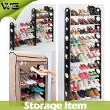 10 Reihe-Regal-erstaunliche Plastikschuh-Zahnstange /Organizer/Stand für die 30 Paar-Schuhe für Verkauf