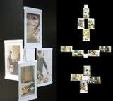 Leggyhorse4 x 6 pouces Cadre Photo en acrylique transparent souple, trames détachable de changer facilement la forme, couleur blanc/noir, un jeu de 4frame